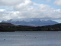 The Cuillin from Portree Bay