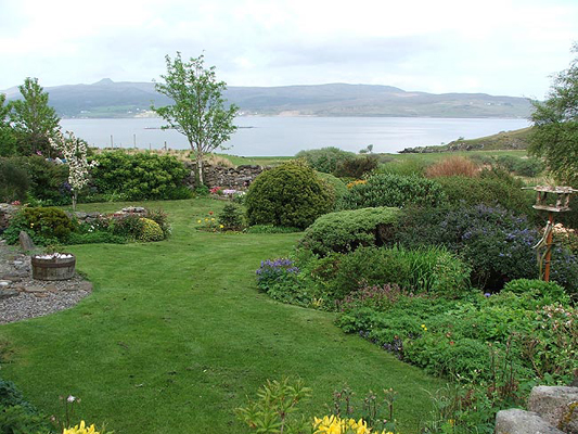 Garden view towards Raasay